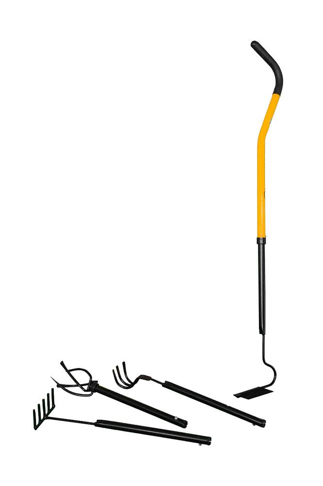 Садовый набор Торнадика Мини 4 купить с доставкой: мини грабли, тяпка, рыхлитель, культиватор